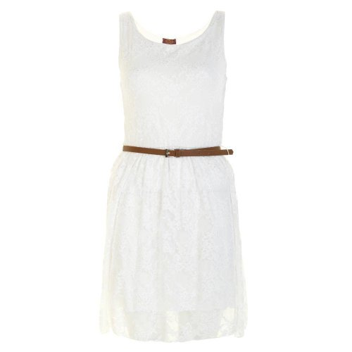Generic - Robe - Patineuse - Sans Manche - Femme Blanc