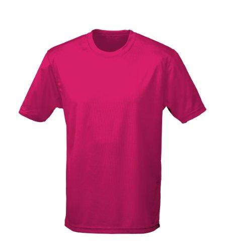 Just Cool Performance T-Shirt, atmungsaktiv, hot pink, Gr.3XL - Hot Herren T-shirts