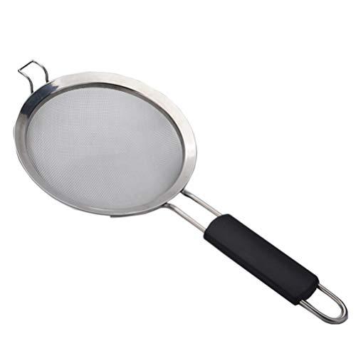 UPKOCH Edelstahl feinmaschigen Ölskimmer Sieb Sieb Löffel Filter Suppensieb Küche Werkzeug Größe L (20 Zoll)