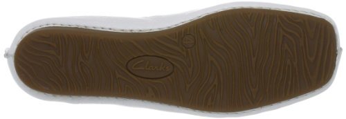 Clarks Freckle Ice, Ballerines femme Blanc (White Leather)