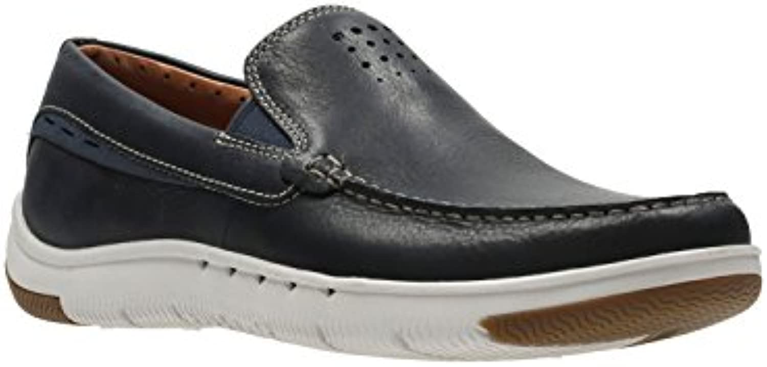Clarks Unmaslow Easy Navy Leather H7+