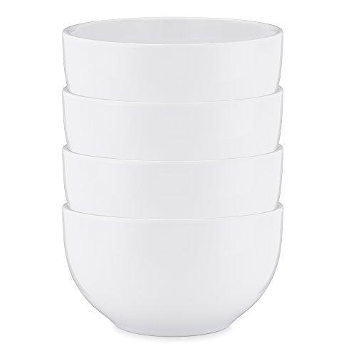 F kariert Diamond Collection, 4Stück Round Cereal Bowl, Set of 4 White Milk Glass Bowl