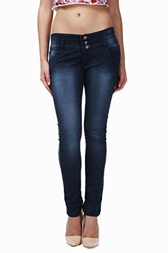 ahhaaaa-Blue-slim-fit-denim-jeans-for-Women