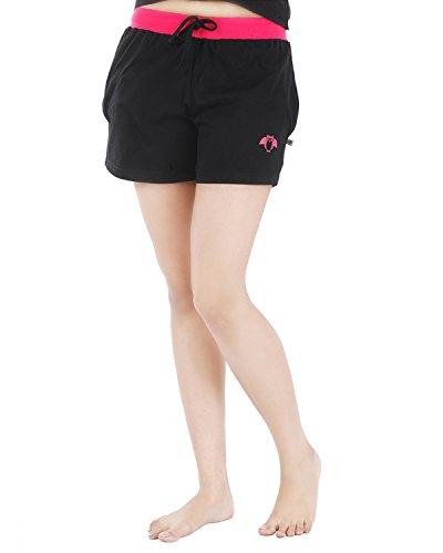 Nite Flite Women's Cute Owl Black Sleep Shorts