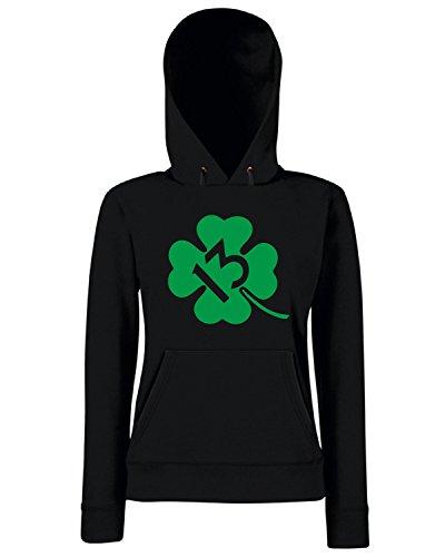 T-Shirtshock - Sweats a capuche Femme TIR0139 lucky 13 shamrock green tshirt Noir