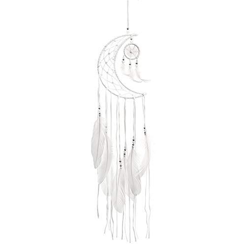 Brucelin - Atrapasueño, atrapasueños, Luna de campanillas eólicas a Mano Indio, atrapasueños con Plumas, Tapiz para Pared, decoración de Coche o hogar