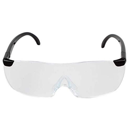 Yaoaoden Große Vision 1.6X Vergrößerungslesebrille Flammenlose leichte Eyewear Lupe 250 Grad Vision Objektiv für ältere Menschen (schwarz
