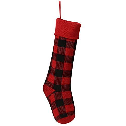 Rabatt Party Dekorationen - DAMANY Knitting Weihnachtsstrümpfe, Nikolaussocken mit großen