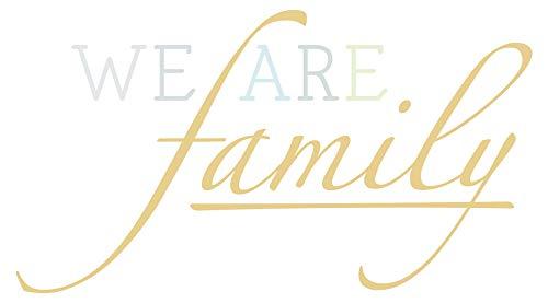 Wandtattoo Familien Spruch We are family in schönen Pastell Farben