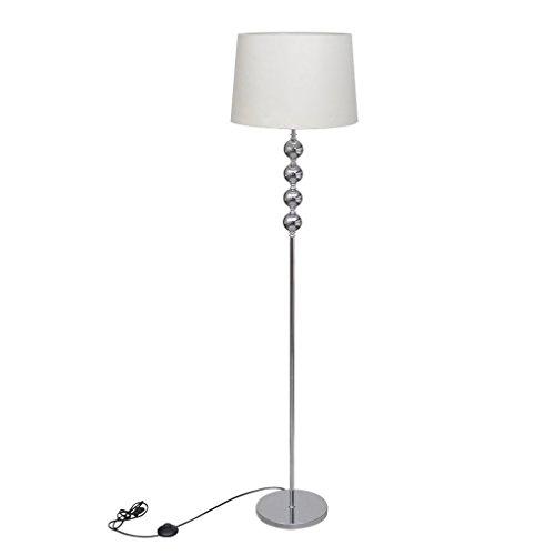 vidaXL Stehlampe Weiß Stehleuchte Wohnzimmerlampe Leuchte Standleuchte Lampe