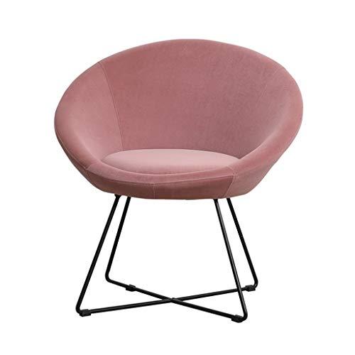 Velvet Accent Shell Sessel Elegant Dinning Chair Mid-Back Unterstützung Moderne Balkon Freizeit Gepolsterte Sofa Stuhl for Wohnzimmer Freizeit Stühle for Schlafzimmer ( Color : Pink )
