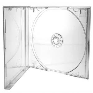 CD/DVD Jewel 10.4mm Boîtiers pour 1disque avec Plateau Transparent (Lot