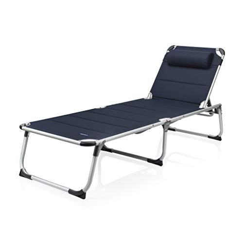 Campart BE-0637 Sonnenliege - 600D Polyesterbezug - faltbares Reisebett