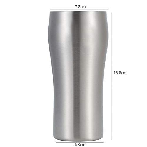 WXJMP 1 stück Hohe Qualität Doppelwandig 430 ml Edelstahl Bierkrug Kaffeetasse Heiße und Kalte Becher Kühler Tasse Geschenke