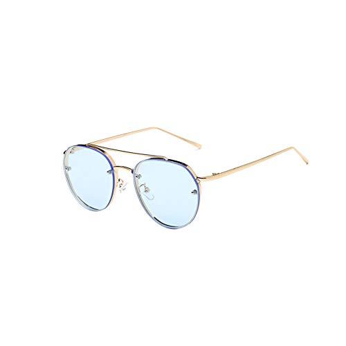 Premium-Ultra-Sleek Sonnenbrille Aviator Polarized Metallspiegel-Sonnenbrille UV-Schutz-Gläser für Männer Frauen Goldenen Rahmen blau Objektiv 1PC