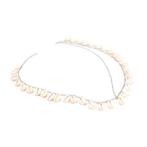 Doitsa 1pcs Muscheln und Quasten Haarband Stirnband Haarbänder Haarschmuck Haarreifen für Damen Make-up Gesichtsreinigung 60CM