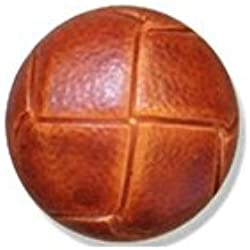 Russet Leather Buttons 24mm 10pk