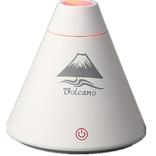 JIANGYE Tragbarer USB Humidifier Mini Ultrasonic Cool Mist Humidifier mit Farben LED Ambient Night Light Intelligent Schutz Quiet für Home Baby Office Car Travel,White