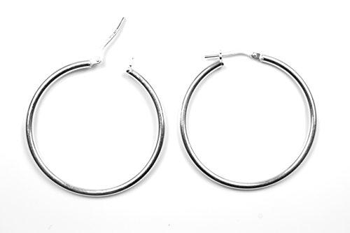 Arranview Jewellery pesante con coperchio incernierato Hoop Orecchini (34), in argento Sterling
