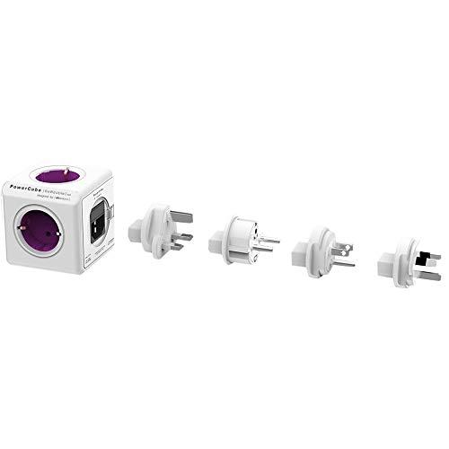 Allocacoc PowerCube Orginal Rewirable 4xSteckdose 4xTravel-Plugs violett 2859