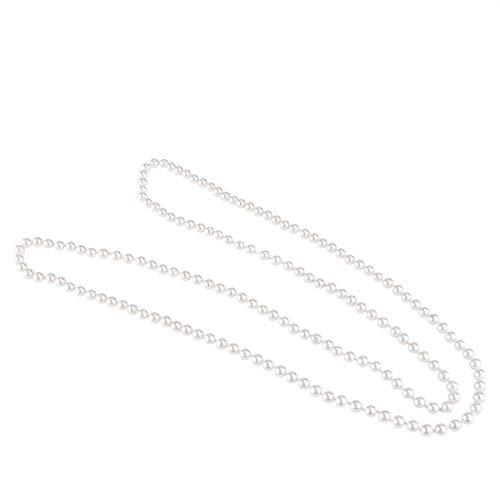 Gefälschte Perlenkette - OULII Perlenkette Gefälschte Perlen Halskette Retro