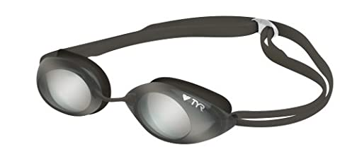 TYR Tracer Junior Racing Metallized Goggle (Silver Metallic)
