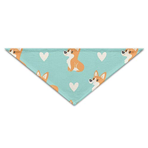 Sdltkhy Cute Heart Corgi Pups Baby Pet Triangle Head Scarfs Dog Scarves Puppy Triangle