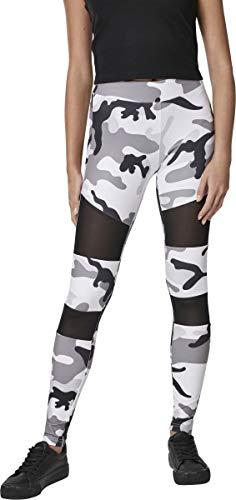 Urban Classics Damen Ladies Camo Tech Mesh Leggings, snowcamo, XL - Schwarze Und Weiße Camo