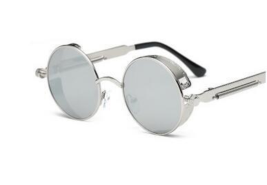 Generic Round Metal Sunglasses Women Steampunk Men Fashion-color3