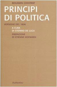 Principi di politica. Versione inedita del 1806