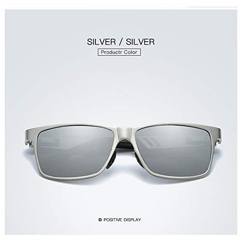 Preisvergleich Produktbild JKYQ Outdoor Polariisierte Sonnenbrille Männer Sonnenbrille Sports Metal Frame 100% UV-Schutz Fishing Running Bergsteigerbrille – Blau, C