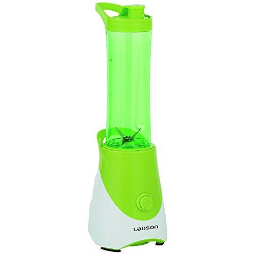 Lauson Batidora Portátil de Vaso extraíble, Mini Mixer para smoothies, Licuadora de 600ml, 300W (Disponible en 3 colores), Color Verde