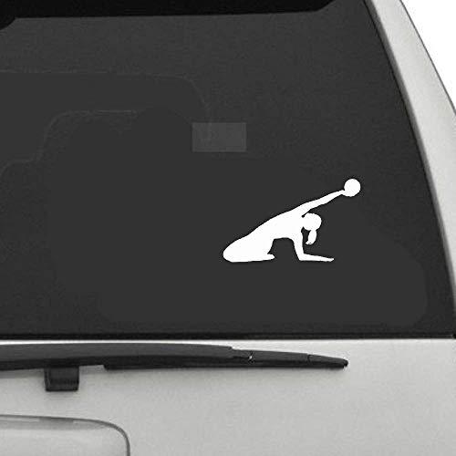 13.7x8.3Cmgymnastik Tanzen Fitness Dekor Auto Aufkleber Zubeh?r Silhouette für Auto Laptop Fenster Aufkleber
