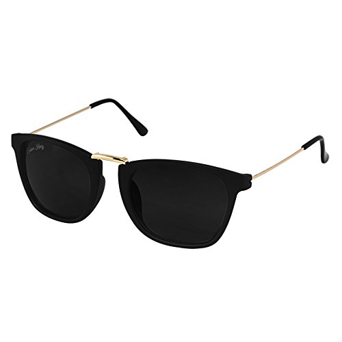 Silver kartz Golden Thin Temple Side Wayfarer Sunglasses (wc070)