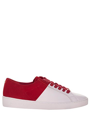 MICHAEL KORS donna sneakers basse 43R6TOFS1S TOBY LACE UP Bianco-Rosso
