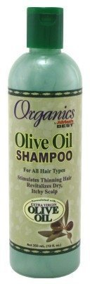 Africas Best Org Olive Oil X- Virgin Shampoo 12oz (3 Pack) by Africa's Best