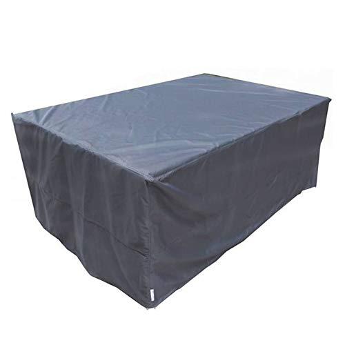 FQJYNLY-Gartenmöbel Abdeckung Wetterfest Schatten Im Freien Würfel Schutzhülle Staubdicht Anti-UV, 33 Größen (Color : Gray, Size : 270x270x90cm)