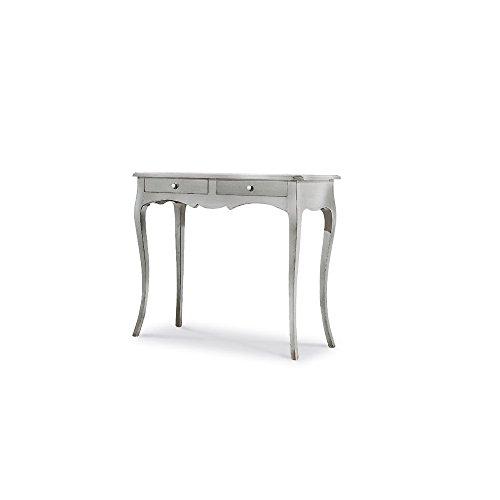 60 x 60 x 85 in Legno massello e MDF con rifinitura in Bianco Opaco InHouse srls Tavolino Alto Tondo Arte povera Mis