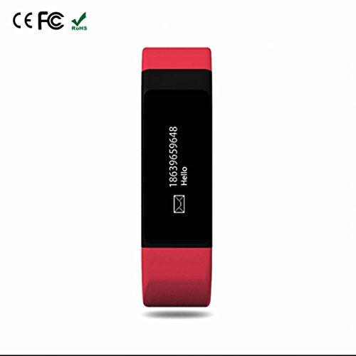 1895 Drucken (Fitness Tracker Uhr Anti-Verloren Smart Watch Aktivitätstracker Fitness Armbänder mit Fernbedienung Kamera / SMS Facebook Vibration Fitness Armband Schrittzähler Bluetooth Smartwatch Uhr)