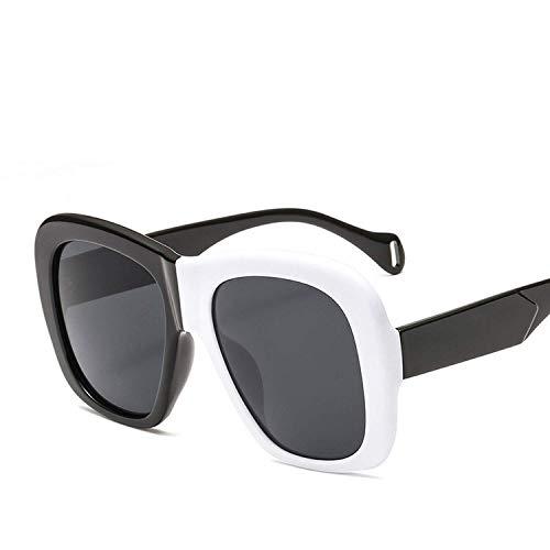 Sport-Sonnenbrillen, Vintage Sonnenbrillen, Fashion Vintage Oversized Square Sunglasses Women Double Color Frame Gradient Sun Glasses Men Uv400