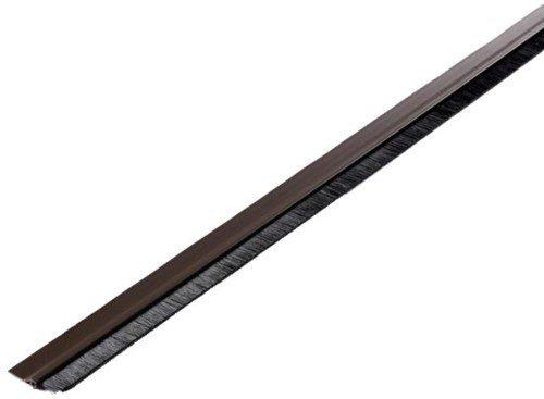 Wolfpack 5190150Zugluftstopper PVC weiß mit Bürste 1Meter