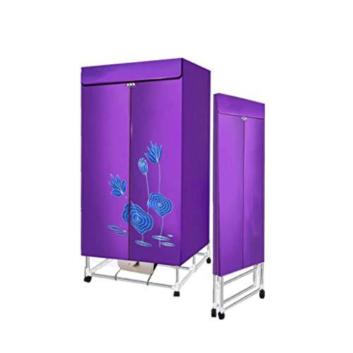Carl Artbay Trockner mit hoher Leistung, Elektrischer Wäschetrockner drinnen Schnell lufttrocknend heißer Kleiderschrank Wäscheständer, Luftentfeuchter (Farbe : Lila)