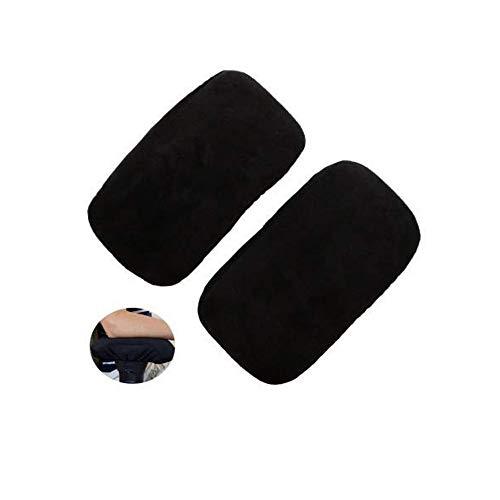 QSBY Weiche Stuhl-Armlehnen-Auflagen verdickten das ergonomische Gedächtnis-Schaum des Büro-2pcs mit hoher Dichte weiche Ellbogen-Kissen-Unterarm-Druckentlastung