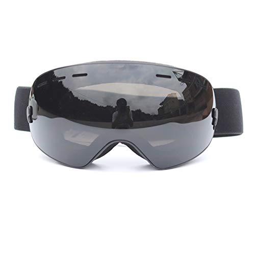 YXZN Ski Goggles Double Anti Nebel Große Kugelförmige Outdoor-Sportgeräte Erwachsene Männer Und Frauen,Gray,175X95MM
