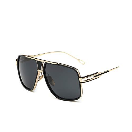 Sportbrillen, Angeln Golfbrille,New Style NEW Sunglasses Men Brand Designer Sun Glasses Driving Oculos De Sol Masculino Grandmaster Square Sunglass 1-Gold-Gray