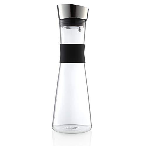 HEYNNA® Premium Karaffe/Wasserkaraffe mit Edelstahl Ausguss und praktischem Griff 1L