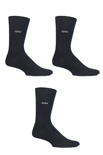 Mens 3 Pair SockShop Embroidered Name Cotton Socks