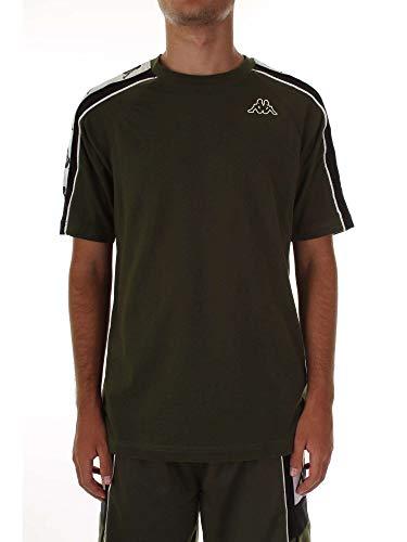 Kappa T-Shirt Uomo 222 Banda 10 ARSET 304I050.907 (M - 907 Green-Black-White)