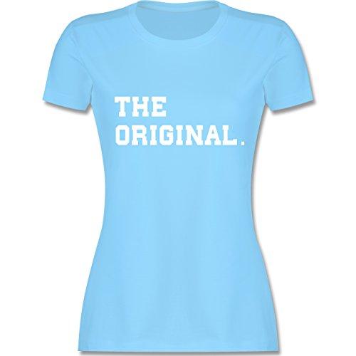 Shirtracer Partner-Look Familie Mama - The Original The Remix Eltern - Damen T-Shirt Rundhals Hellblau