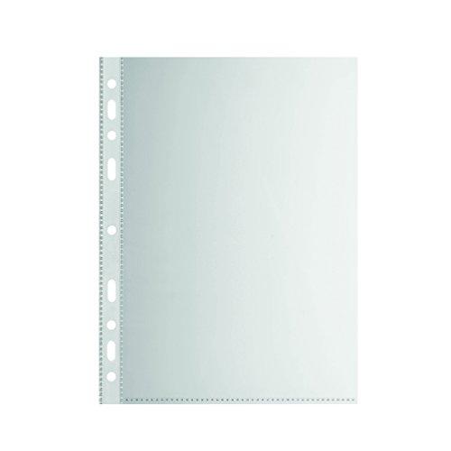Falken Standard PP-Kunststoff Prospekthüllen für DIN A5 transparent genarbt oben offen 10er Pack Klarsichtfolie Plastikhülle Klarsichthülle ideal für Ordner Ringbücher und Hefter